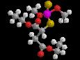Малатион (Карбофос) - Трехмерная модель молекулы