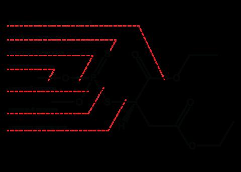 Малатион (Карбофос) - Гидролиз малатиона: В кислой среде при гидролиз малатиона образуется эфир тиолянтарной кислоты, в щелочной – эфир фумаровой кислоты и соль диметилдитиофосфорной кислоты.