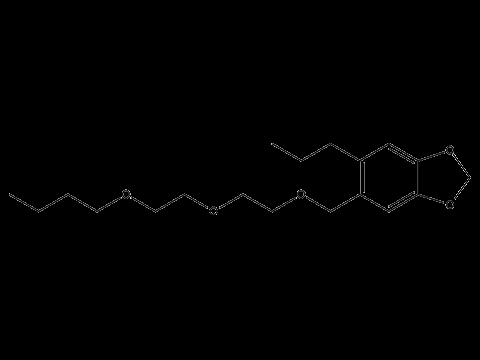 Пиперонилбутоксид (ППБ) - Структурная формула