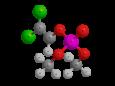 Дихлофос (ДДВФ) - Трехмерная модель молекулы
