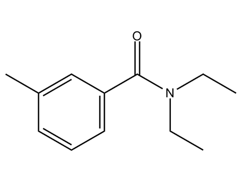Диэтилтолуамид (ДЭТА) - Структурная формула