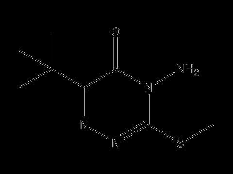 Метрибузин - Структурная формула