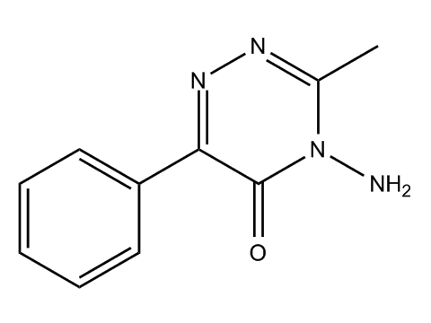 Метамитрон - Структурная формула