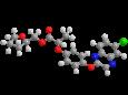 Квизалофоп-П-тефурил - Трехмерная модель молекулы