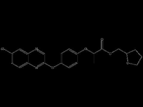 Квизалофоп-П-тефурил - Структурная формула