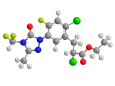 Карфентразон-этил - Трехмерная модель молекулы