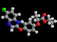 Хизалофоп-П-этил - Трехмерная модель молекулы