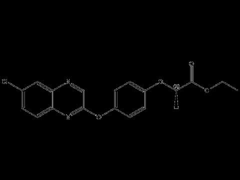 Хизалофоп-П-этил - Структурная формула