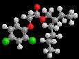 2,4-Д (2-этилгексиловый эфир) - Трехмерная модель молекулы