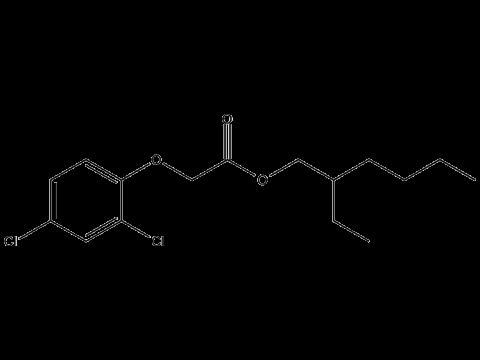 2,4-Д (2-этилгексиловый эфир) - Структурная формула
