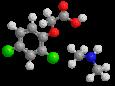 2,4-Д (диметиламинная соль) - Трехмерная модель молекулы