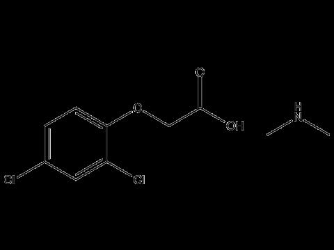 2,4-Д (диметиламинная соль) - Структурная формула