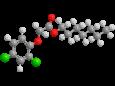 2,4-Д (малолетучие эфиры С7-С9) - Трехмерная модель молекулы гептиловый эфир 2,4-Д
