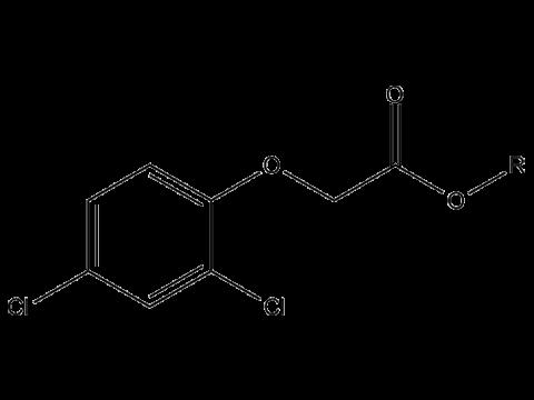 2,4-Д (малолетучие эфиры С7-С9) - Структурная формула R=С7..С9