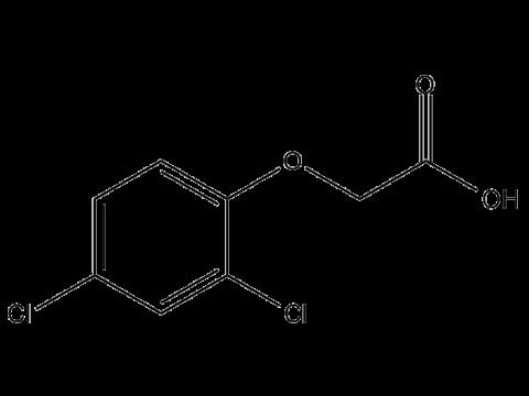2,4-Д (2,4-Дихлорфеноксиуксусная кислота) - Структурная формула