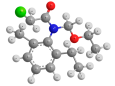 Ацетохлор - Трехмерная модель молекулы