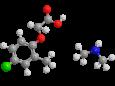МЦПА (диметиламинная соль) - Трехмерная модель молекулы