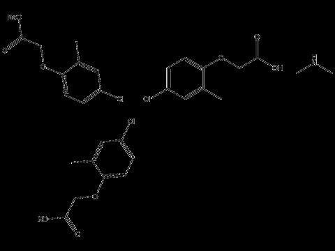 МЦПА (диметиламинная+калиевая+натриевая соли) - Структурная формула