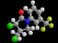 Флурохлоридон - Трехмерная модель молекулы