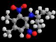 Пендиметалин - Трехмерная модель молекулы
