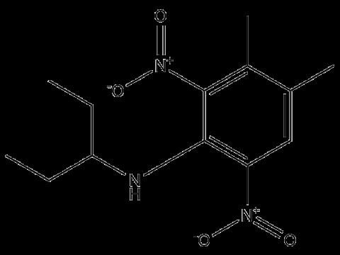 Пендиметалин - Структурная формула