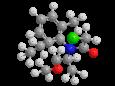 С-Метолахлор - S-изомер  трехмерная модель молекулы