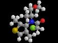 Диметенамид-П - Трехмерная модель молекулы