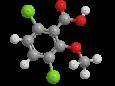 Дикамба - Трехмерная модель молекулы