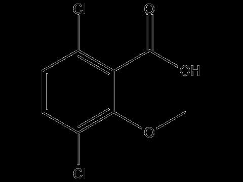 Дикамба - Структурная формула