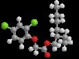 Дикамба (2-этилгексиловый эфир) - Трехмерная модель молекулы