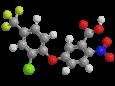 Ацифлуорфен - Трехмерная модель молекулы