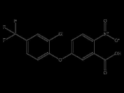 Ацифлуорфен - Структурная формула