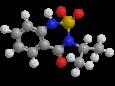 Бентазон - Трехмерная модель молекулы
