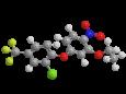Оксифлуорфен - Трехмерная модель молекулы