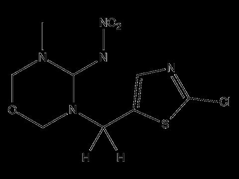 Тиаметоксам (Актара) - Структурная формула