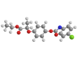 Феноксапроп-П-этил - Трехмерная модель молекулы
