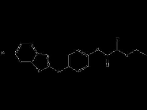 Феноксапроп-П-этил - Структурная формула