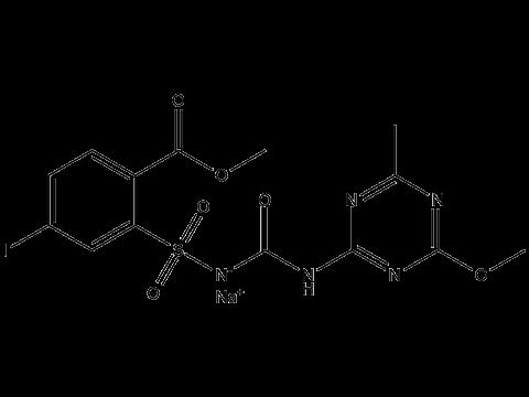 Йодосульфурон-метил-натрий - Структурная формула