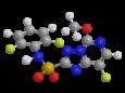 Флорасулам - Трехмерная модель молекулы