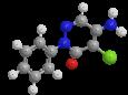 Хлоридазон - Трехмерная модель молекулы