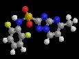 Флуметсулам - Трехмерная модель молекулы
