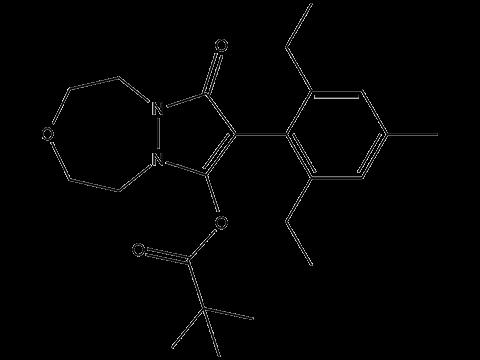 Пиноксаден - Структурная формула