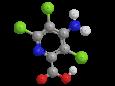 Пиклорам - Трехмерная модель молекулы