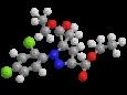 Мефенпир-диэтил - Трехмерная модель молекулы