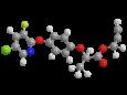 Клодинафоп-пропаргил - Трехмерная модель молекулы