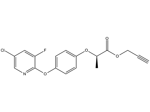 Клодинафоп-пропаргил - Структурная формула