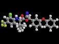 Тау-флювалинат - Трехмерная модель молекулы