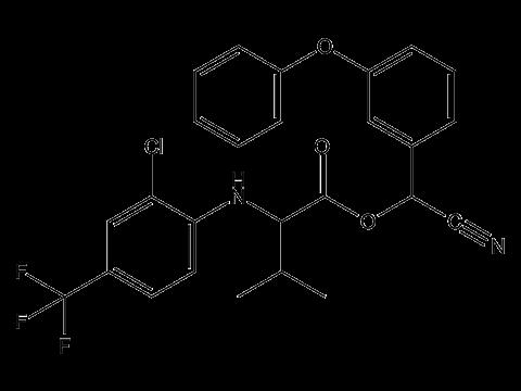 Тау-флювалинат - Структурная формула