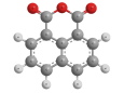 Нафталевый ангидрид - Трехмерная модель молекулы