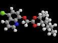 Клоквинтосет-мексил - Трехмерная модель молекулы